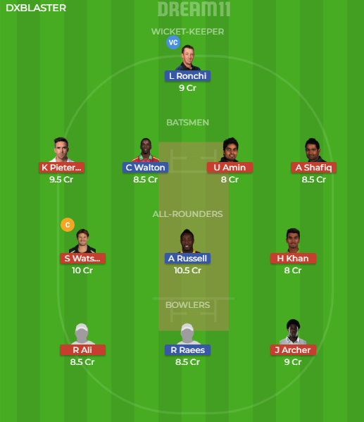 ISL vs QUE, 9th Match Dream11 Expert Team