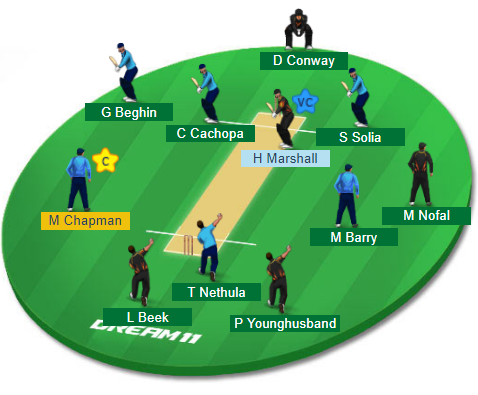 AUK vs WEL, 17th Match Dream11 Team