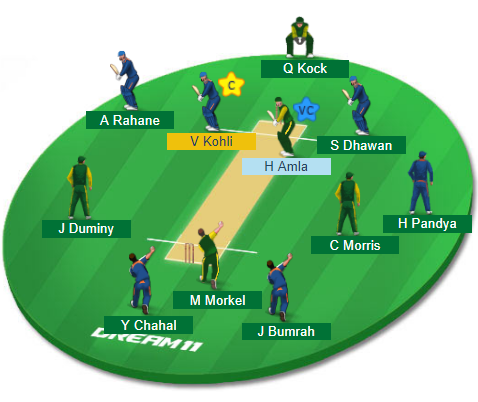 IND vs SA, 2nd ODI Match Dream11 Team