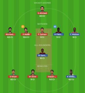 WI vs PAK 1st T20 Grand League Team