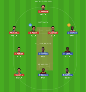 WI vs PAK 1st T20 Dream11 Team