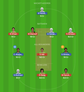 SL-W vs PK-W 3rd T20I  Match Dream11 Team