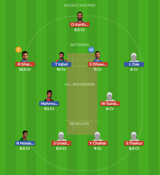 BAN vs IND, 5th T20 Match Dream11 Team
