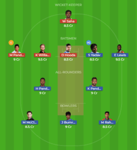 MUM vs HYD Dream11 Team