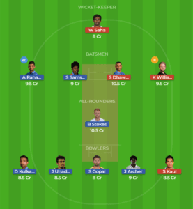 RAJ vs HYD 28th Match Dream11 Team