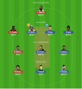 DEL vs PNJ 22nd Match Dream11 Team