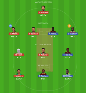 WI vs PAK 2nd T20 Dream11 Team