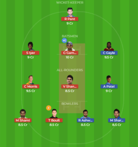 PNJ vs DEL 2nd Match Dream11 Team