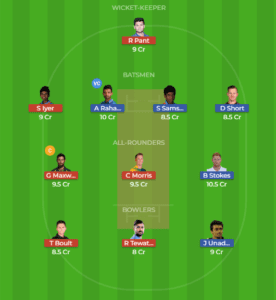 RAJ vs DEL 6th Match Dream11 Team