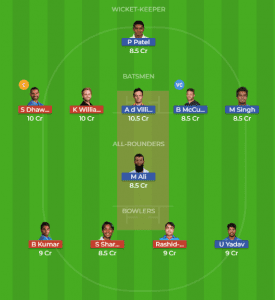 BLR vs HYD 51st Match Dream11 Team