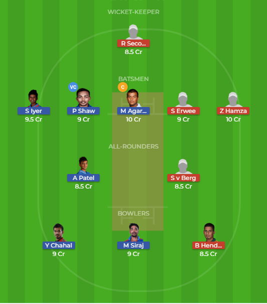 IN-A vs SA-A Dream11 Team 2nd unofficial Test
