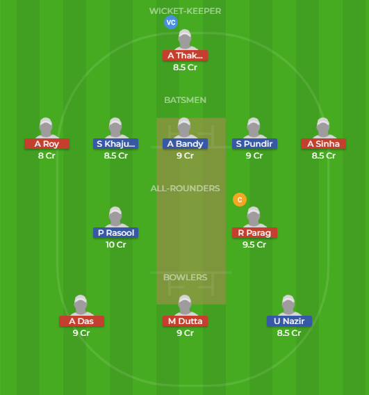 JAM vs ASM Dream11 Team